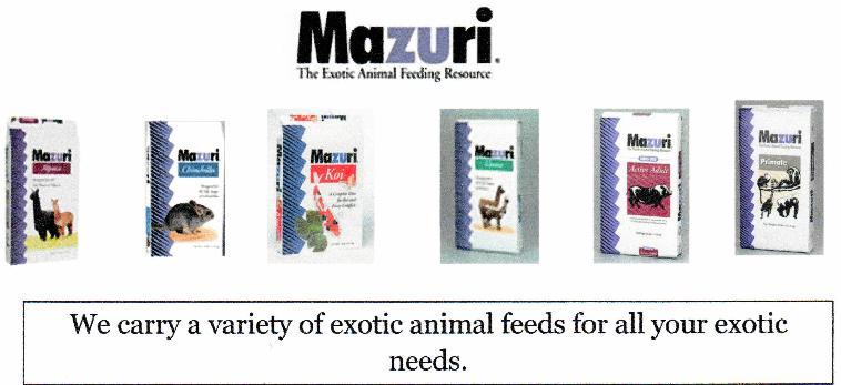 Exotic Animal Feed